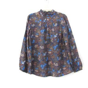 J McLaughlin Garden Floral Pullover Blouse